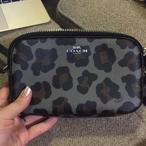 Coach crossbody bag, ocelot print!